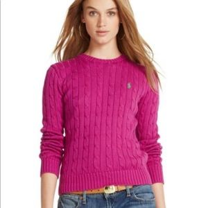 💕Ralph Lauren Pink Cable Cotton Sweater